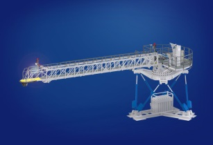 Ampelmann A EP enhanced performance motion compensation gangway system