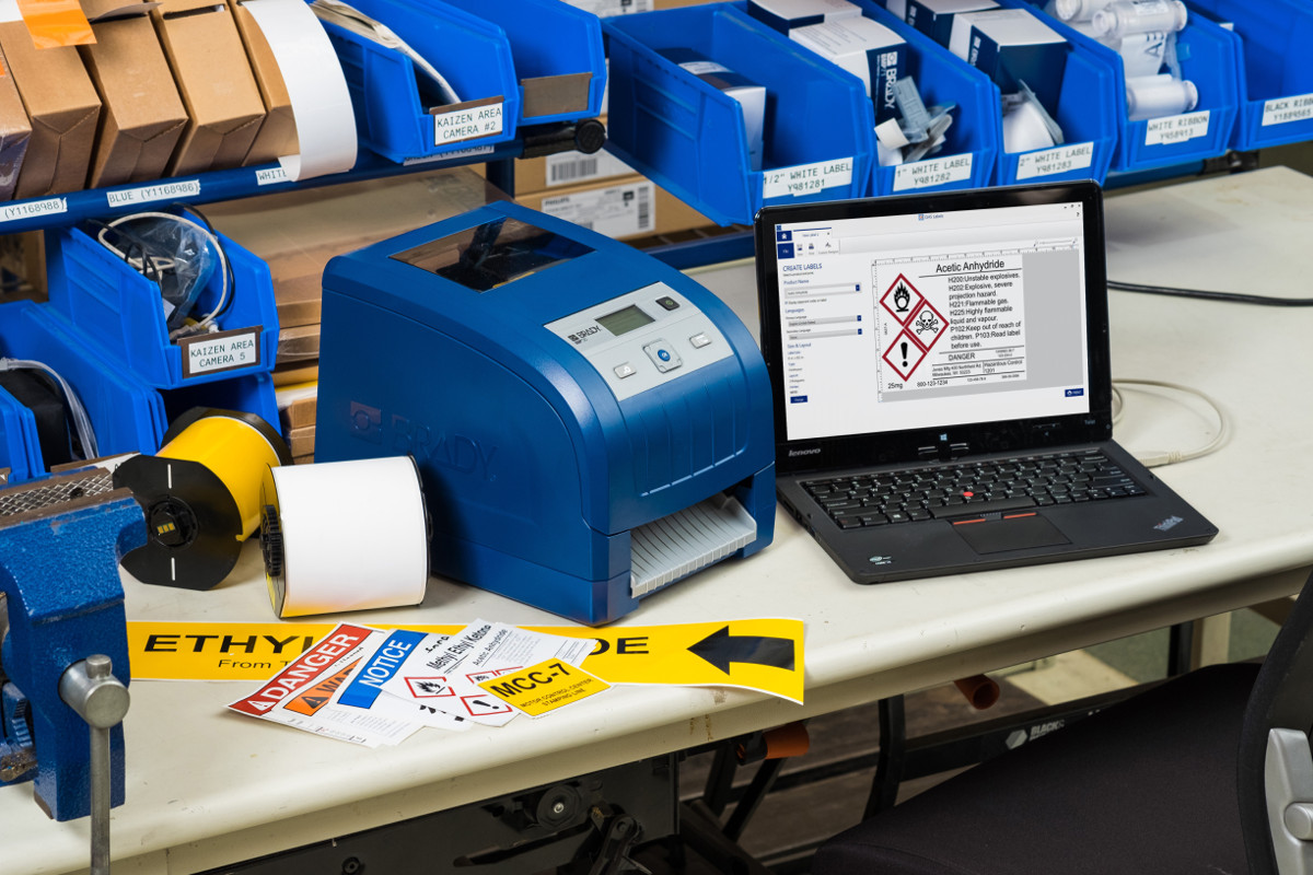 Print lean and safety signs on-site