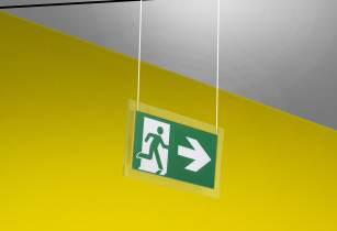 Eaton's exit sign luminaires lead to safety, in style